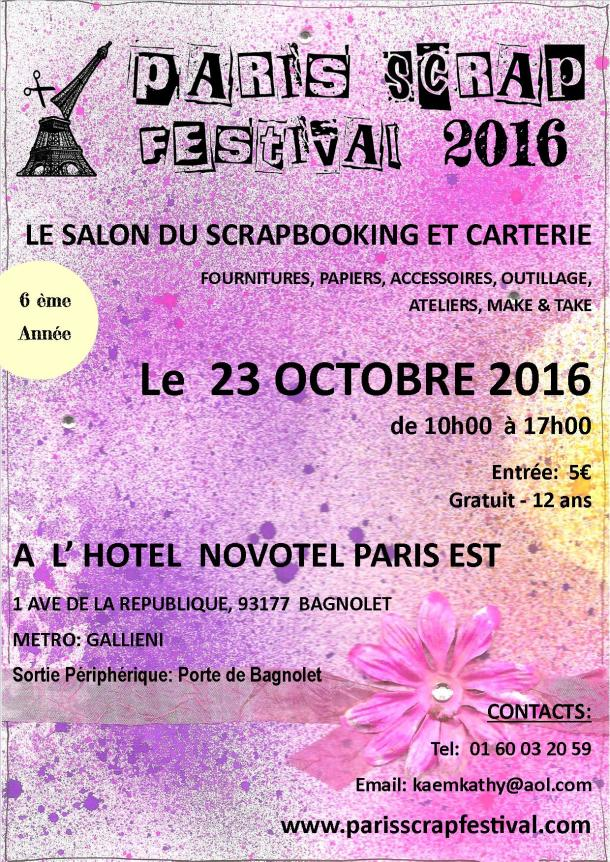 FLYER PARIS SCRAP FESTIVAL 2016