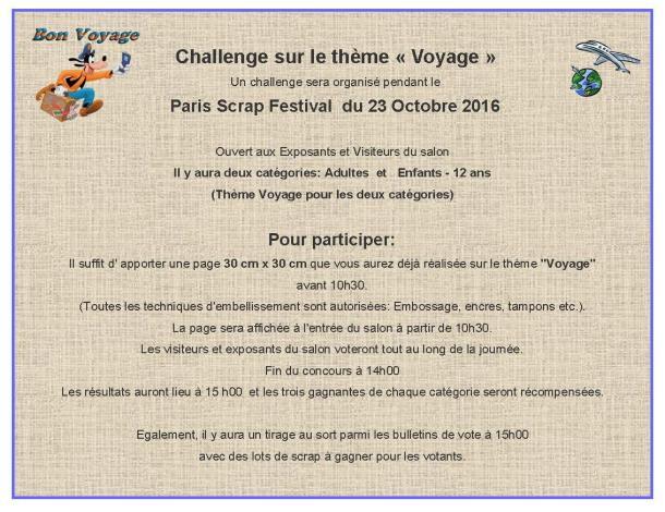 challenge 23 octobre 2016